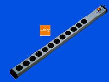12-fach Überspannungsschutz-Steckdosenleiste +Netzfilter+Schalter | 5m-Zuleitung