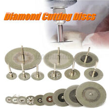 10PCS Diamant Coupe Disque Roue Lame Scie + 2x Mandrin Pr Dremel Rotatif