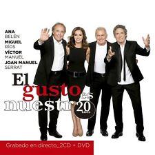 2 CD's + DVD - EL Gusto Es Nuestro 20 anos FAST SHIPPING!