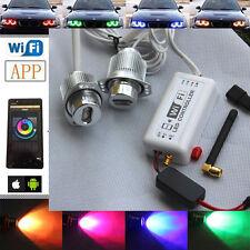 2x RGB Wifi Controll LED Angel Eyes halo Light for BMW 05-08 E90 E91 Sedan Wagon
