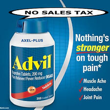 Advil Ibuprofen 200mg 360 Tablets Pain Reliever/Fever Reducer EX 6/2020 OR LATER