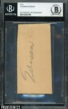 "Thomas Edison Signed Cut Autographed Beckett BAS AUTO "" SUPER RARE """