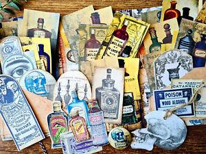 Vintage Ephemera Pocket Vintage Labels Poisons Apothecary Vintage Button Pinback