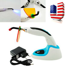 USA 10W Wireless Cordless LED Dental Curing Light Lamp 2000MW+ Whitening BLUE CE