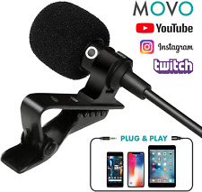 Lavalier Microphone & Lapel Microphone for iPhone iPad Android Other Smartphones