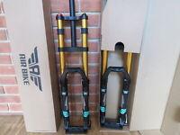 """Air Bike DH32 Downhill Dual Crown Suspension Fork 26"""" 15mm Axel 170mm Oil"""