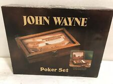2005 John Wayne Enterprise,Design 15191 Poker Set,200 Poker Chips,Cards,Wood Box