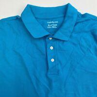Croft & Barrow Polo Shirt Mens 2XL XXL Teal Short Sleeve 100% Cotton Regular Fit