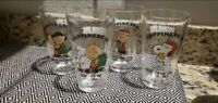 Peanuts Charlie Brown Snoopy Holiday Glasses