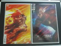 The Flash #49 Variant & #50 SDCC TV Photo Foil  Variant (DC) NM, Free Shipping!