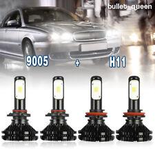 9005 + H11 Total 2000W 300000LM Fanless LED Headlight Kit Hi/Lo Beam Light Bulbs