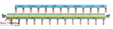 Barres de pontage phase+neutre 13 modules disjoncteur automatique Hager KBS763