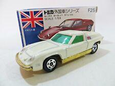 TOMY TOMICA F25 'LOTUS EUROPA ' WHITE/GOLD. 1:59. VINTAGE. MIB/BOXED. JAPAN.