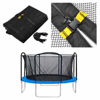 14ft Trampoline Net Fence Safety Enclosure Round Frame 4 Arch 8 Pole Mesh Parts
