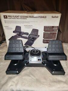 Saitek Pro Flight Cessna Rudder Pedals with Toe Brake