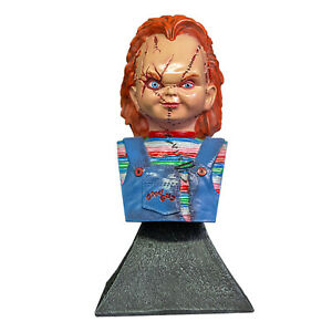 "5.5"" Trick or Treat Bride of Chucky Horror Halloween Bust Figurine Decor Gift"