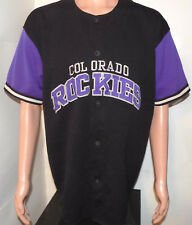 Colorado Rockies Starter Jersey (Large / XL) Vintage 1990's Stitched Button-Up