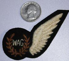 RAF WAG HALF WING WWII WW2 WIRELAESS AIR GUNNER ENGLISH ENGLAND INSIGNIA UNIFORM