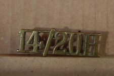 WW2 14th/20th Kings own hussars Shoulder Title Badge Genuine