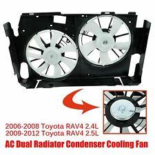 Fits 2006-2012 Toyota Rav4 2.5L 2.4L Dual Radiator Ac Condenser Cooling Fan