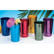 ALUMINUM TUMBLERS Retro Jewel Aluminum Colored Tumblers Cups Set of 6,