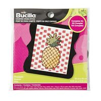 """Bucilla/beginner Minis Counted Cross Stitch Kit 3""""x3""""-pineapple (14 Count)"""
