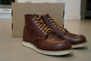 """Red Wing 8196 Heritage Work 6"""" Round Toe Boot Shoes, Briar Oil Slick"""