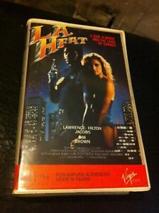 L.A Heat VHS ex-rental video tape cops robbers crime urban action Jim Brown HTF