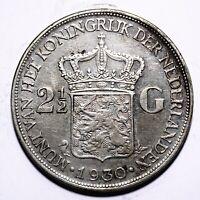 1930 Netherlands Two & Half 2½ Gulden - Wilhelmina - Lot 792
