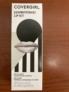 Covergirl Exhibitionist Lip Kit #505 Flushed #100 Clear Lip Liner