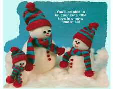 "6.752 10.5"" 14,5"" high  SNOWMAN.  TO KNIT,  DK YARN LAMINATED KNITTING PATTERN"