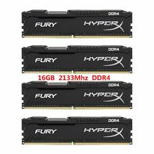 For Kingston HyperX 16GB 32GB 64GB PC4-17000 DDR4-2133MHz Black Desktop Memory