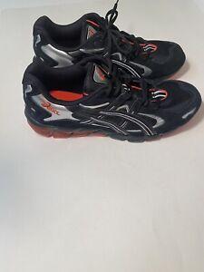 Asics Gel Kayano 5 KZN Running Shoes Men's Sz 10.5 Black Silver Orange 1021A408