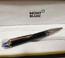 Replica MB Starwalker Blue Planet Black + Steel Color 0.7mm Ballpoint Pen NO BOX
