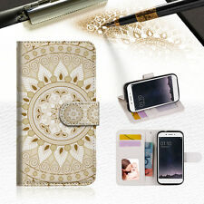 White AZTEC TRIBAL Wallet TPU Case Cover For OPPO F1S-- A006