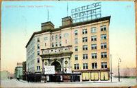1910 Boston, MA Postcard: Castle Square Theatre - Massachusetts Mass