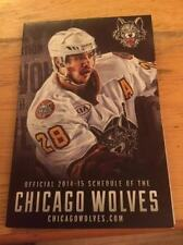2014-15 CHICAGO WOLVES (AHL) HOCKEY POCKET SCHEDULE - PACE BUS *
