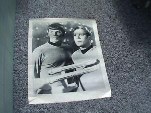 Vintage star trek Poster with  Captain Kirk & Senior Spock