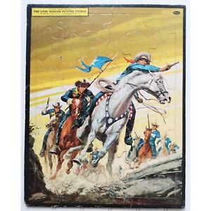 The Lone Ranger 1957 Frame Tray Inlay 48 Piece Picture Puzzle Whitman Publishing