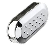 For Fiat 500 Single 3 Button Remote Key Shell Cover Case Silver Car Accessory