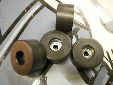 Black Rubber Feet X 4 Steel Reinforced Door Stop D 38mm H 20mm Adam Hall 4909