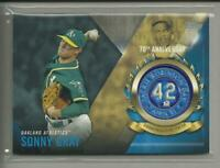 Sonny Gray  2017 Topps Series 1 Jackie Robinson LOGO PATCH Card A's  Reds MLB