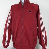 Adidas Tri Stripe 90s Athletic Windbreaker Hidden Hood Track Jacket Mens Large