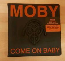 MOBY 'COME ON BABY' - 2 x CD SINGLE SET IN GATEFOLD RUBBER WALLET