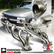 Stainless Steel Shorty Exhaust Header Manifold for 02-16 Chevy Silverado V8 8Cyl
