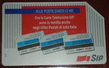 ALLE POSTE CHIEDI DI ME   L. 10000 ( GOLDEN 336 ) / SCHEDA TELEFONICA SIP USATA