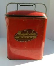 Vintage 1950's Magikooler Portable Ice Chest Cooler- Rare Red Color