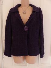 Per Una size S dark purple medium knit cardigan