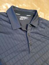 Nike Golf Tour Performance Dri-Fit Vented black S/S Polo Shirt Men's Size Medium