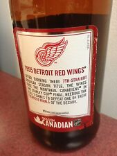 1955 molson stanley cup nhl Detroit Red Wings beer bottle glass empty collector
